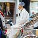 Muslim Man in Bicycle Rickshaw, Varanasi India