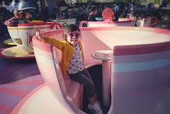 Tea time with penny (nadeleon) Tags: happiestplaceonearth roundandround fujifilm fujixt10 disneyland teacups