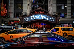 Cafe Hard of Rock (TomGeli) Tags: ny nyc newyork nice square world reflection travel usa city light outside orange old photography place urban america street dark journey kontrast contrast abstract yellow exposure canon cars canon6d silver manhattan hard rock