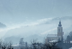 Beautiful morning before Christmas (superhic) Tags: christmas bozic božić bosnia bosna religion morning fog landscape willage