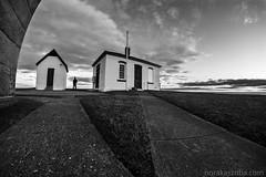 The Grounds of the Watch Hill Lighthouse (Nora Kaszuba) Tags: sky silhouette norakaszuba sonya7iii blackwhite monochrome fisheye rokinon12mmf28 watchhillrhodeisland watchhilllighthouse
