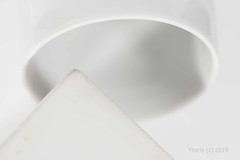 White Geometrics (MacroMondays) (Yberle.Foto) Tags: white whiteonwhite porcelain geometric circle oval triangle ufo ufolanding abstract dirty dirtywhite macromondays macro pyramid