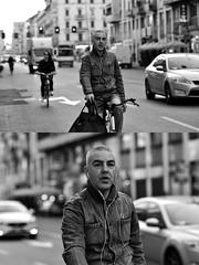 [La Mia Città][Pedala] (Urca) Tags: milano italia 2018 bicicletta pedalare ciclista ritrattostradale portrait dittico bike bicycle nikondigitale scéta biancoenero blackandwhite bn bw 118011