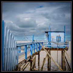 Fishing Hut -2- (Dan Guimberteau) Tags: blue sea mer sand fishing architecture dxo photolab lightroom france vendée