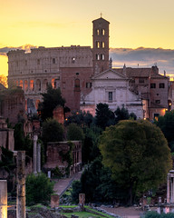Layers In Rome (JH Images.co.uk) Tags: rome italy colosseum sunrise hdr dri church architecture