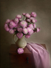 Bouquet of asters (Elena Chausova) Tags: stilllife pink purple lilac autumn flowers asters bouquet натюрморт натюрморты цветы осень букет астры астра