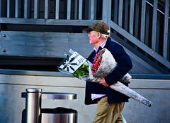 Say It With Flowers (Bury Gardener) Tags: 2018 burystedmunds suffolk england eastanglia uk britain nikond7200 nikon streetphotography street streetcandids snaps strangers candid candids people peoplewatching arc thearc