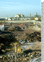 """Brownfield de Isle of Dogs 2 (hoffman) Tags: brownfield construction contaminated contamination earth estate flats houses housing jcb land lead mud newbuild pollution property site solvents toxic vertical davidhoffman wwwhoffmanphotoscom london uk davidhoffmanphotolibrary socialissues reportage stockphotos""""stock photostock photography"""" stockphotographs""""documentarywwwhoffmanphotoscom copyright"""