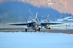 Swiss F-18's (Jaapio) Tags: aviation aircraft f18 swiss airforce aviaton meiringen snow