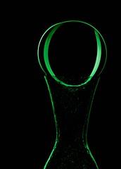 0 (Karen_Chappell) Tags: green light black vase ball circle round orb sphere glass stilllife lightpainting refraction oval abstract led