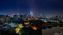 Kuala Lumpur (Adrian.L SnapJoy) Tags: searchflickr flickr search traveller sonya7 horizon building nightline lanscape travel vert fantastic moonlight mar amazing nightview skyline lakeview malaysia southeastasia sony sunset longexposure bluehour happyplanet asiafavorites