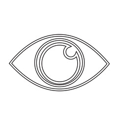 Eye Icon (www.icon0.com) Tags: eye icon vision vector view look see sight symbol concept watch graphic human spectrum abstract bright black web searching pictogram optical white business sign male light shape eyesight health isolated iris outline curve circle element simple idea medicine eyeball emblem illustration lens design science color clip anatomy background silhouette eyelashes