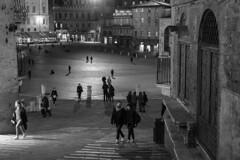 """"""" The square """" (pigianca) Tags: italy siena streetphoto urbanphoto monochrome blackwhite architecture leicacl summilux50mmf14"""