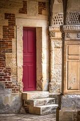 """fine art calm colour detail inside Château de Saint Germain de Livet, Pays d'Auge, Normandy, France (grumpybaldprof) Tags: """"châteaudesaintgermaindelivet"""" """"paysd'auge"""" normandy normandie france medieval renaissance artists collombage """"halftimber"""" moat castle chateau liseiux """"greenstones"""" copper slate beautiful history monument museum """"eugènedelacroix"""" calvados """"léonriesener"""" checked charming lovely water reflection drawbridge towers dragons calm interior door column stone colours"""