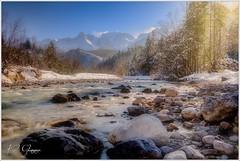 Winterlandschaft (Karl Glinsner) Tags: landschaft landscape österreich austria oberösterreich upperaustria winter almsee grünau almtal salzkammergut bach creek outdoors gebirge mountains schnee snow