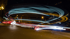 Rush Hour in Greenfield - Saddleworth (Craig Hannah) Tags: greenfield saddleworth lighttrails lights bus goblinmanor road rushhour traffic night nightphotography craighannah november 2018 village canon photography photos westriding yorkshire oldham greatermanchester england uk street stationbrew