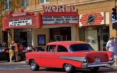 57 Chevy (Tim @ Photovisions) Tags: xt2 chev fuji vintage fujifilm chevrolet nebraska theatre auto