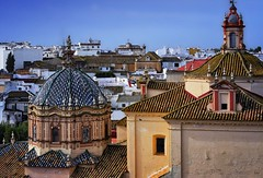 Rooftops (Jocelyn777) Tags: buildings architecture monuments churches domes rooftops architecturaldetails villages towns historictowns carmona andalucia spain travel rooftiles ceramictiles azulejos mudejar