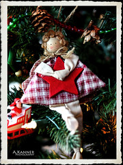 Christmas Angel... (angelakanner) Tags: canon70d lensbaby twist60 8mmmc composerpro christmas angel fabric ornament