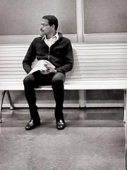 Benched (Renee Rendler-Kaplan) Tags: people sit sitting seated