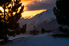 sunset crans montana