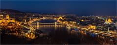 Budapest's downtown from Gellért hill (zm_crey) Tags: budapest gellért hegy hill view city lights blue hour