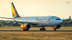 Thomas Cook | G-TCXB | Airbus A330-243 | BGI (Terris Scott Photography) Tags: aircraft airplane aviation plane spotting nikon d750 tamron 70200mm f28 di vc usd g2 travel barbados jet jetliner thomas cook airbus a330 200 grass sunset