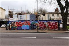 Name, Smog, Oker, 4Sife... (Alex Ellison) Tags: name name26 smc smog oker gsd 4sife yks throwup throwie southlondon urban graffiti graff boobs
