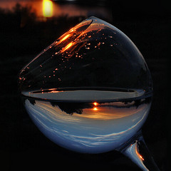 Nevena Uzurov - Sunset glass (Nevena Uzurov) Tags: glass vine macro refraction river light scenery drops sunset sremskamitrovica nevenauzurov serbia d