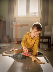 Magic of Childhood (agirygula) Tags: childhood kiddo playing train toy storyteller allday sun liht light boy 3yearsold fun childphotographer momwithcam mother family shooting portrait