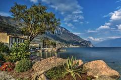 Bogliaco (giannipiras555) Tags: lago garda panorama landscape fiori montagna collina acqua nuvole colori albero porto