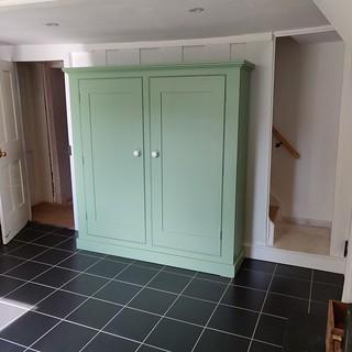 Traditional kitchen storage cabinet