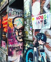 Wheatpaste & Graffiti NYC - Bleecker Street (Christian Montone) Tags: graffiti nyc bleeckerstreet newyork manhattan urbanart greenwichvillage eastvillage montone christianmontone newyorknewyork