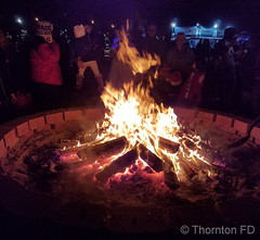 December 8, 2018 - A warm fire on a chilly night at WinterFest. (ThorntonFD)