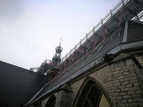 Grote Kerk Alkmaar in de steigers