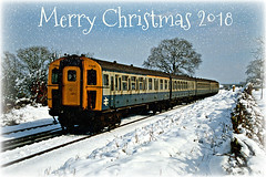 Merry Christmas (Jason 87030) Tags: 7749 2slam dooremuelectric multiple unit2 wishes blessings happy mery xmas chrimbo christmas scene greetings card train shot flickr tag followers 2019 blue grey transport santa festive gifts season weather holiday vacation lineside soft fluffy snow winter charming nice britishrail