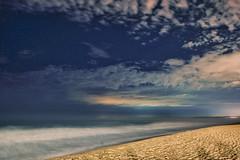 Sea & Sky - November 1st (renata_souza_e_souza) Tags: sky clouds night nightscape stars sea beach sand longexposure fuji xt20 waves lights citylights landscape brazil brasil macae rj pecado