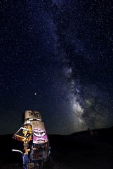 024693764015-106-Milky Way Over the International Car Forest of the Las Church-16 (Jim There's things half in shadow and in light) Tags: 2018 america milkyway mojavedesert nevada september southwest usa carforestofthelastchurch goldfield lightpainting