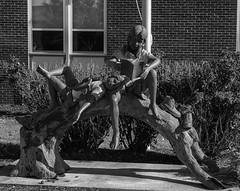 Reading_SAF4894 (sara97) Tags: city copyright©2018saraannefinke missouri photobysaraannefinke saintlouis sculpture monochrome bw blackandwhite blackwhite reading