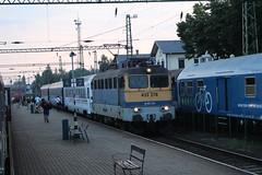 433-278 (Péter Vida) Tags: máv v43 railroad train sky people railway station electric locomotive