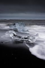Beach Diamonds (Longleaf.Photography) Tags: beach ice jokulsarlon iceland diamond black sand iceberg glacier