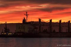 Passing Ship at Sunset (angela.hinckley) Tags: california ship leica californiacoast leicacamera sunsetv lux angelisland aaus bayscene bayscenes vuxleica sanfranciscobay places shore