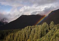 Rainbow, Crown Mountain (martincarlisle) Tags: crownmountain northvancouver britishcolumbia canada grousemountain capilanoriverregionalpark parks rainbows mountains trees clouds sky sonycameras captureonepro12 tkactions cans2s