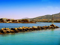 Antiparos Port (dimaruss34) Tags: newyork brooklyn dmitriyfomenko image sky clouds greece antiparos sea water port jetty post buildings