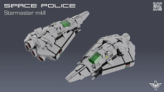 Space Police Starmaster (CK-MCMLXXXI) Tags: lego moc spaceship starfighter space police starmaster