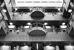 Architectural Design (Kool Cats Photography over 11 Million Views) Tags: blackandwhite bw building interior indoor ricohgrii highcontrast floors architecture artistic balcony