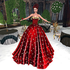LuceMia – :: TIFFANY DESIGNS :: (2018 SAFAS AWARD WINNER - Favorite Blogger -) Tags: tiffanydesigns gown christmas red star luxury ball sl secondlife mesh fashion creations blog beauty hud colors models lucemia