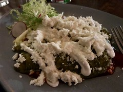 Chicken enchilada verde with queso fresco (TomChatt) Tags: food lafoodie mexicanfood