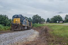 CSX A718 at Hwy 140 (travisnewman100) Tags: csx train railroad freight locomotive manifest local etowah subdivision atlanta division emd gp382 yn3b a718 rydal georgia