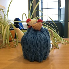 Quirky (What I saw...) Tags: quirky tea pot for one handknitted chickens hens cosy 0119prompt